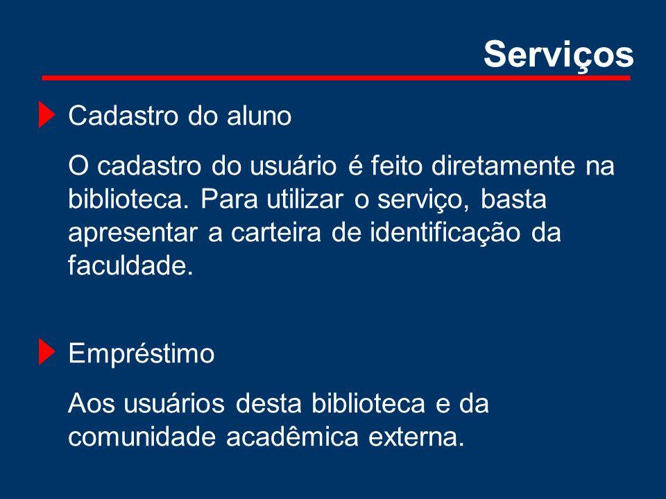 Serviços Cadastro do aluno