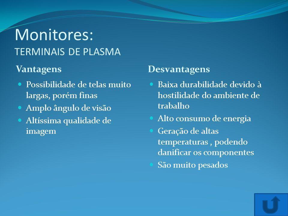 Monitores: TERMINAIS DE PLASMA