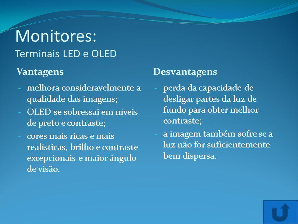 Monitores: Terminais LED e OLED