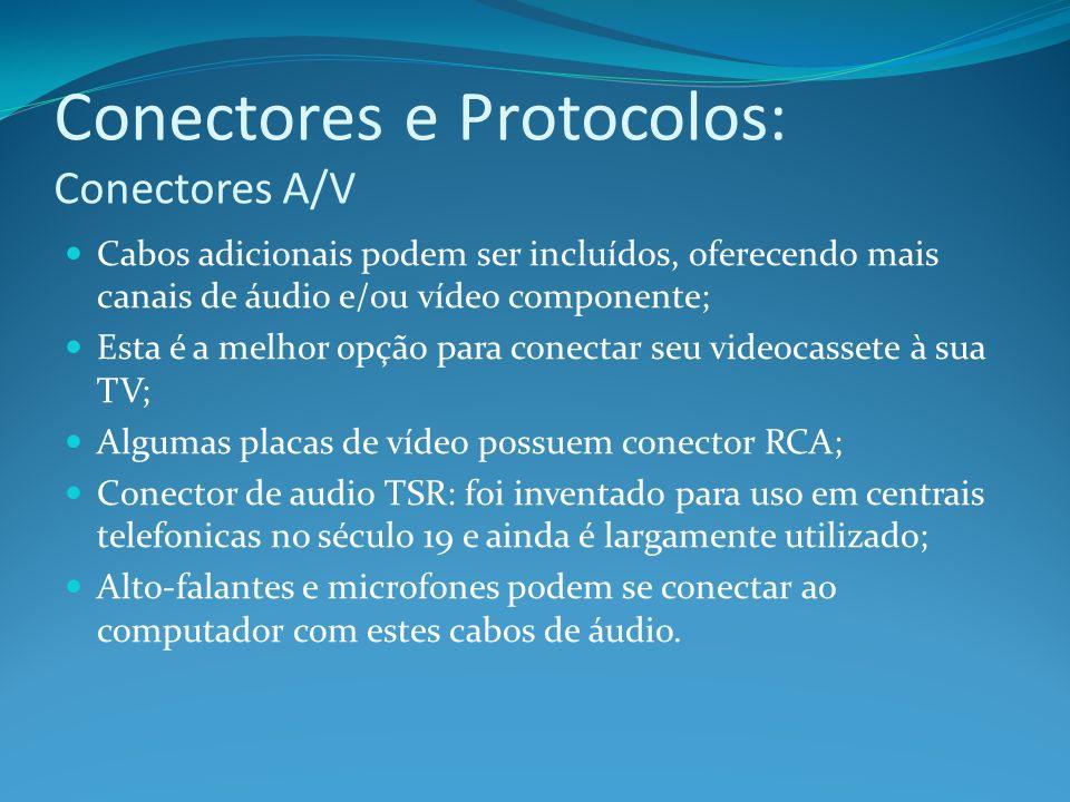 Conectores e Protocolos: Conectores A/V