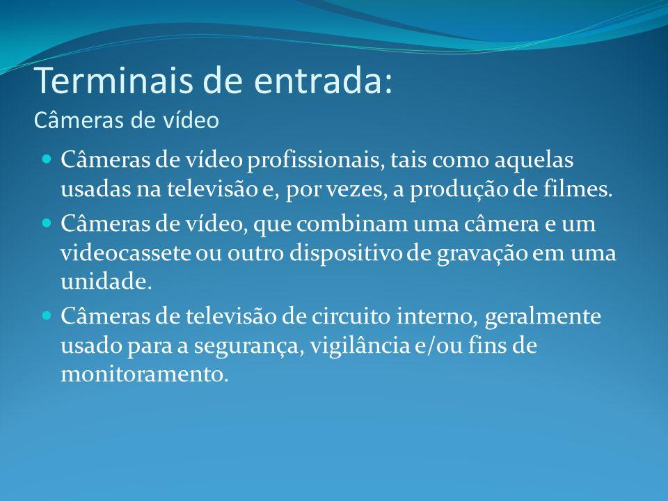 Terminais de entrada: Câmeras de vídeo