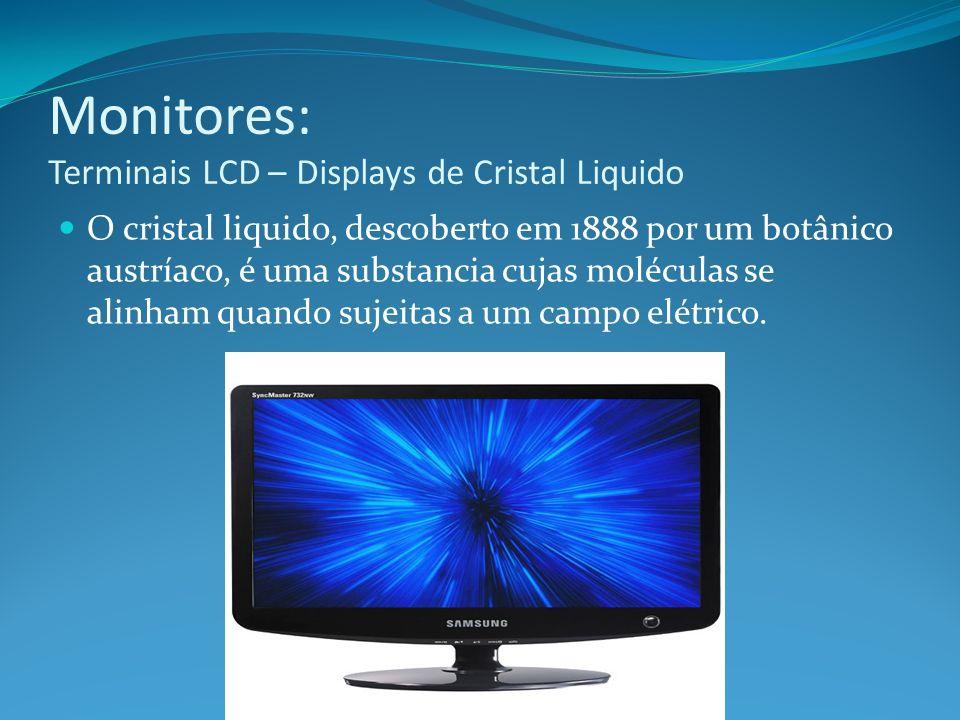 Monitores: Terminais LCD – Displays de Cristal Liquido