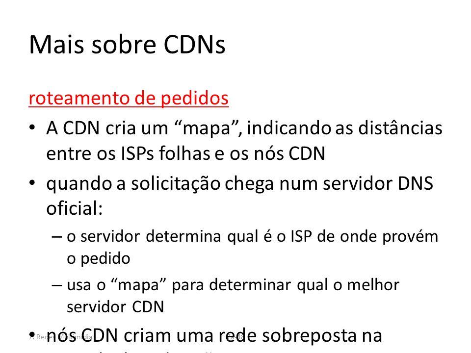 Mais sobre CDNs roteamento de pedidos