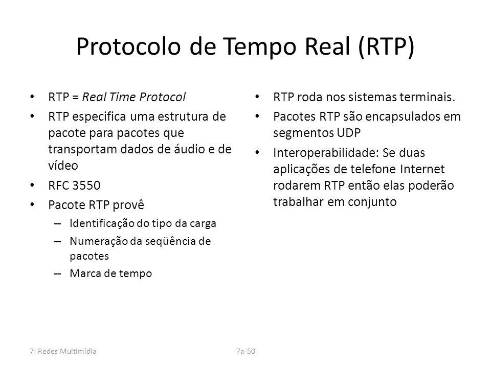 Protocolo de Tempo Real (RTP)