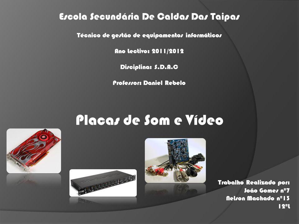 Placas de Som e Vídeo Escola Secundária De Caldas Das Taipas