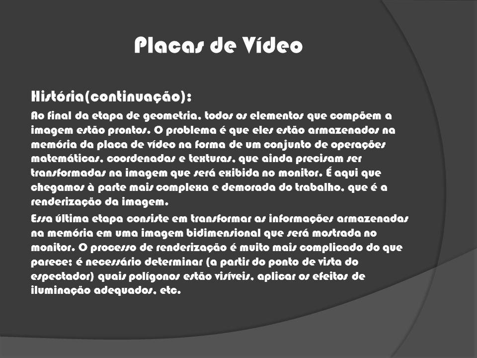 Placas de Vídeo História(continuação):