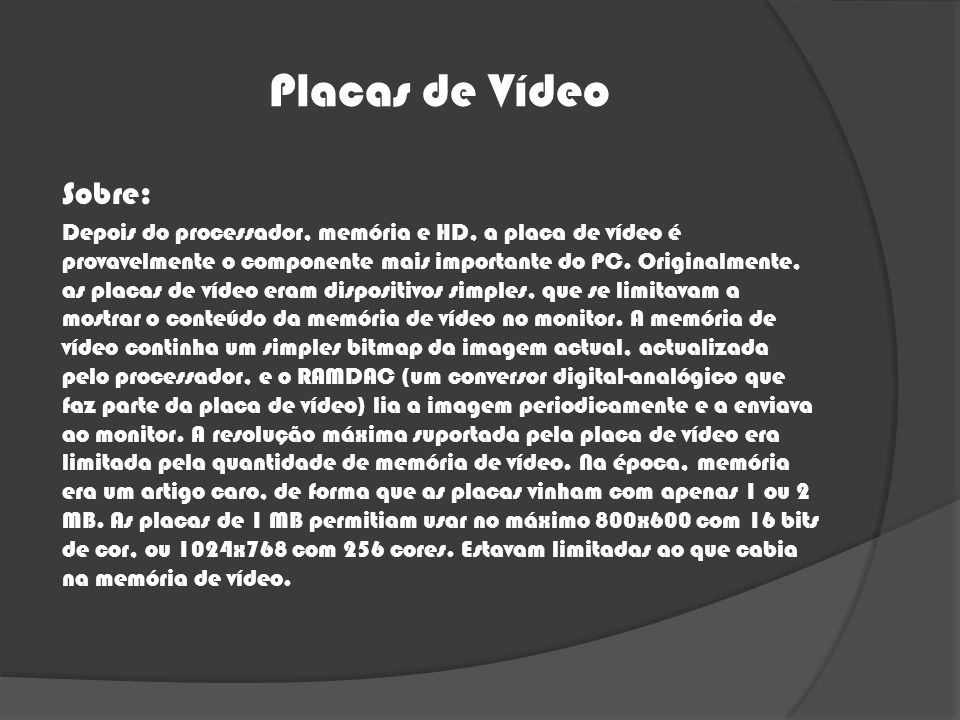 Placas de Vídeo Sobre: