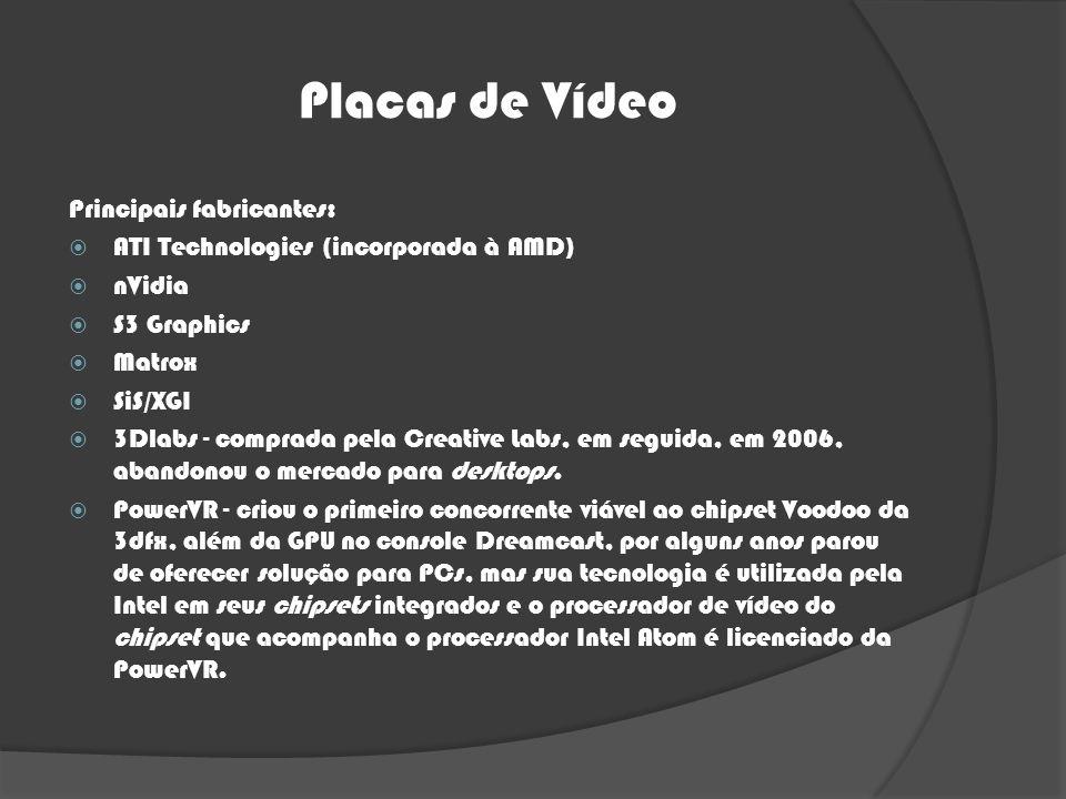 Placas de Vídeo Principais fabricantes: