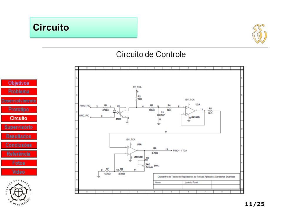 Circuito Circuito de Controle Objetivos Problema Protótipo Circuito