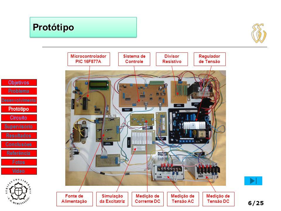 Microcontrolador PIC 16F877A Simulação da Excitatriz