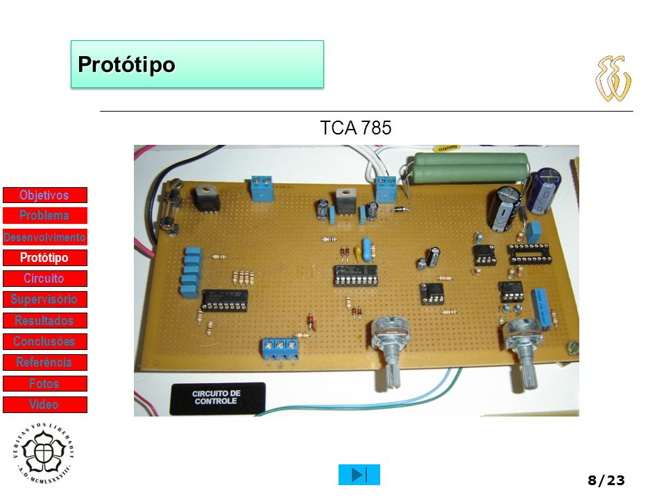 Protótipo TCA 785 Objetivos Problema Protótipo Circuito Supervisório