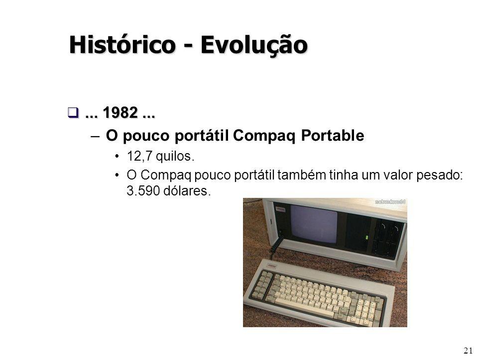 Histórico - Evolução ... 1982 ... O pouco portátil Compaq Portable