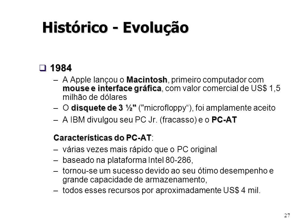 Histórico - Evolução 1984.