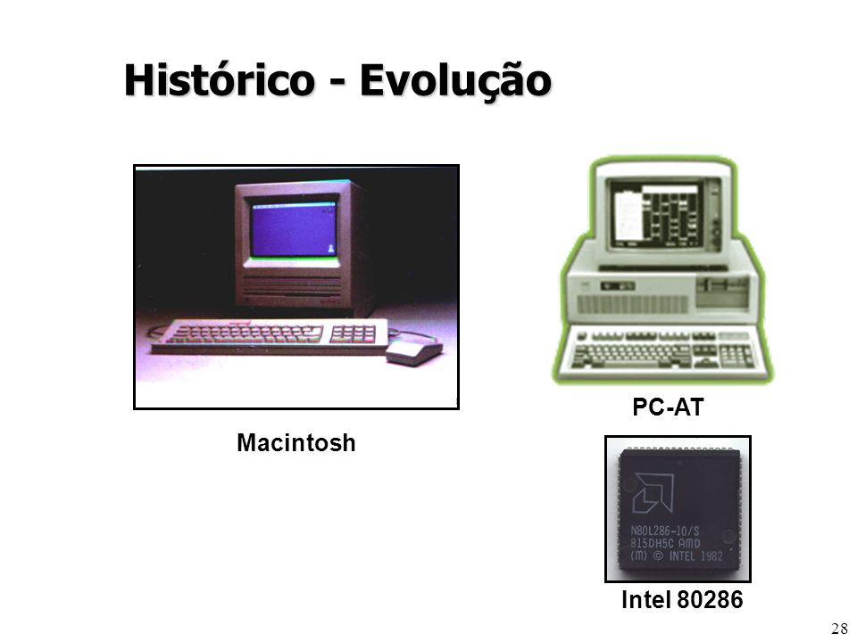 Histórico - Evolução PC-AT Macintosh Intel 80286