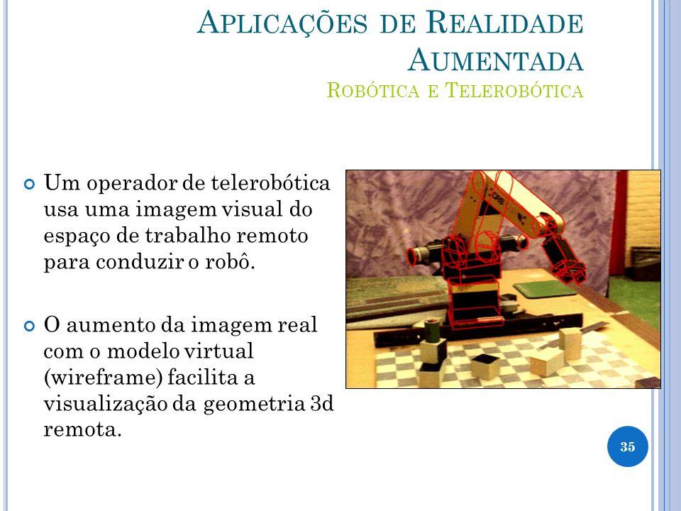 Aplicações de Realidade Aumentada Robótica e Telerobótica