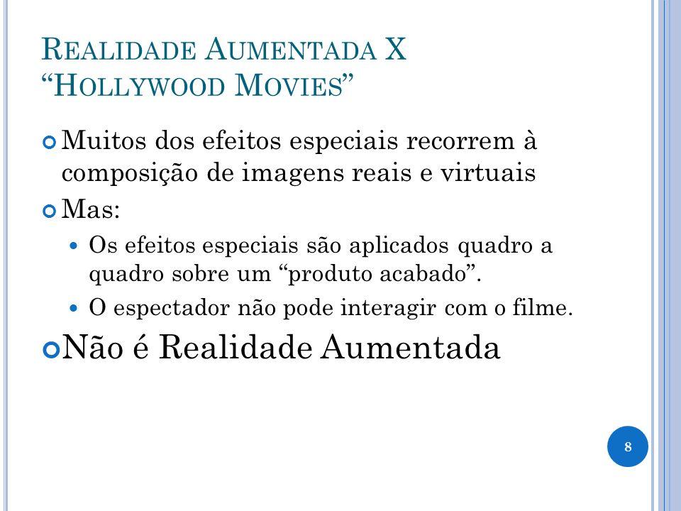 Realidade Aumentada X Hollywood Movies
