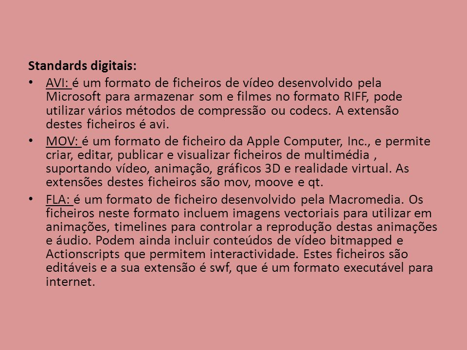 Standards digitais: