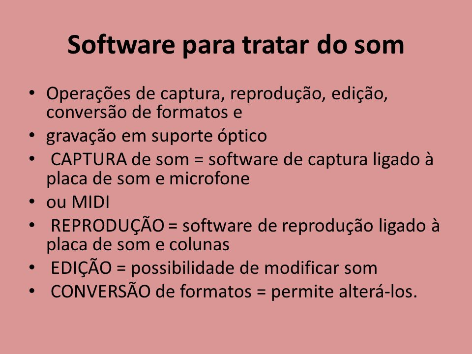 Software para tratar do som