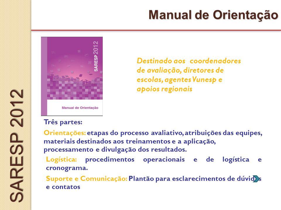 SARESP 2012 Manual de Orientação