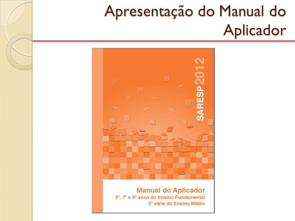 Apresentação do Manual do Aplicador