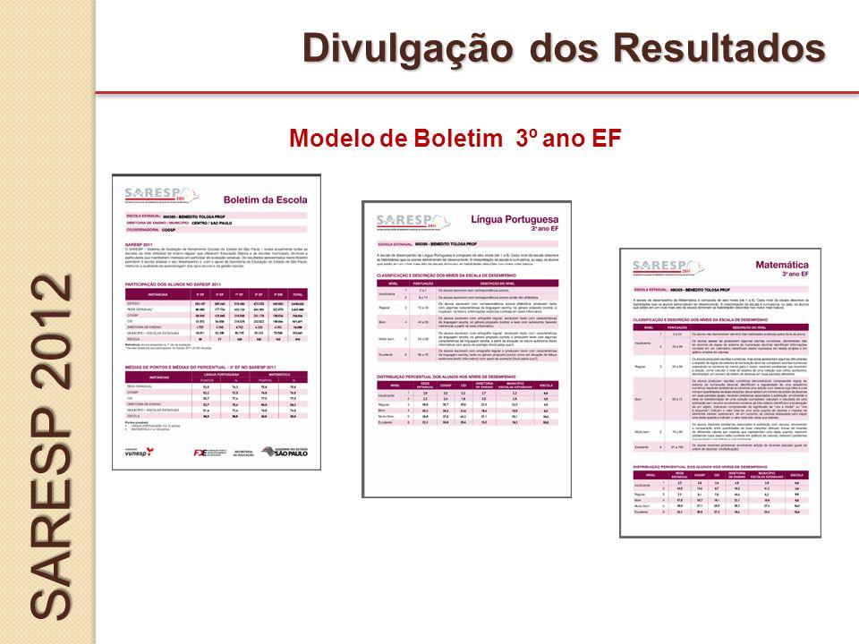 Modelo de Boletim 3º ano EF