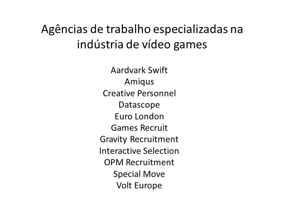 Agências de trabalho especializadas na indústria de vídeo games