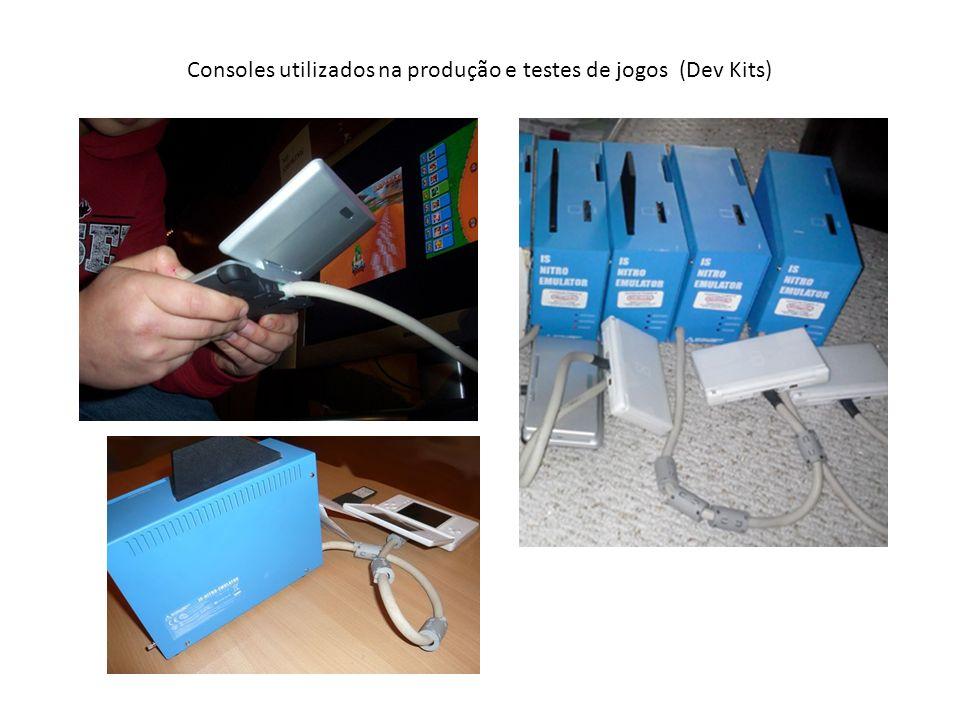Consoles utilizados na produção e testes de jogos (Dev Kits)
