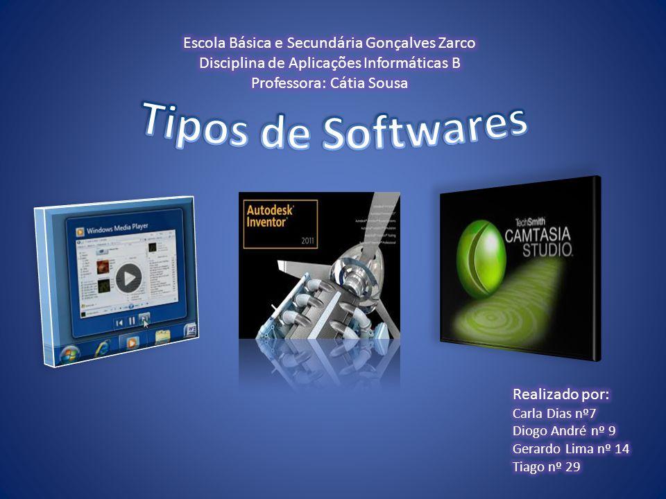 Tipos de Softwares Escola Básica e Secundária Gonçalves Zarco