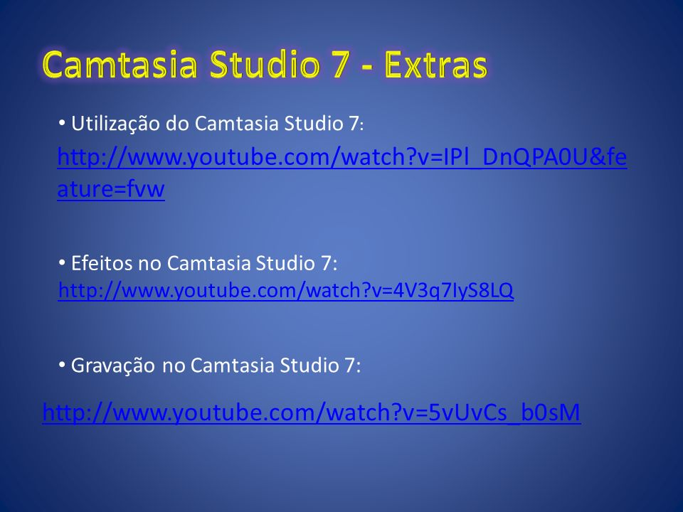 Camtasia Studio 7 - Extras