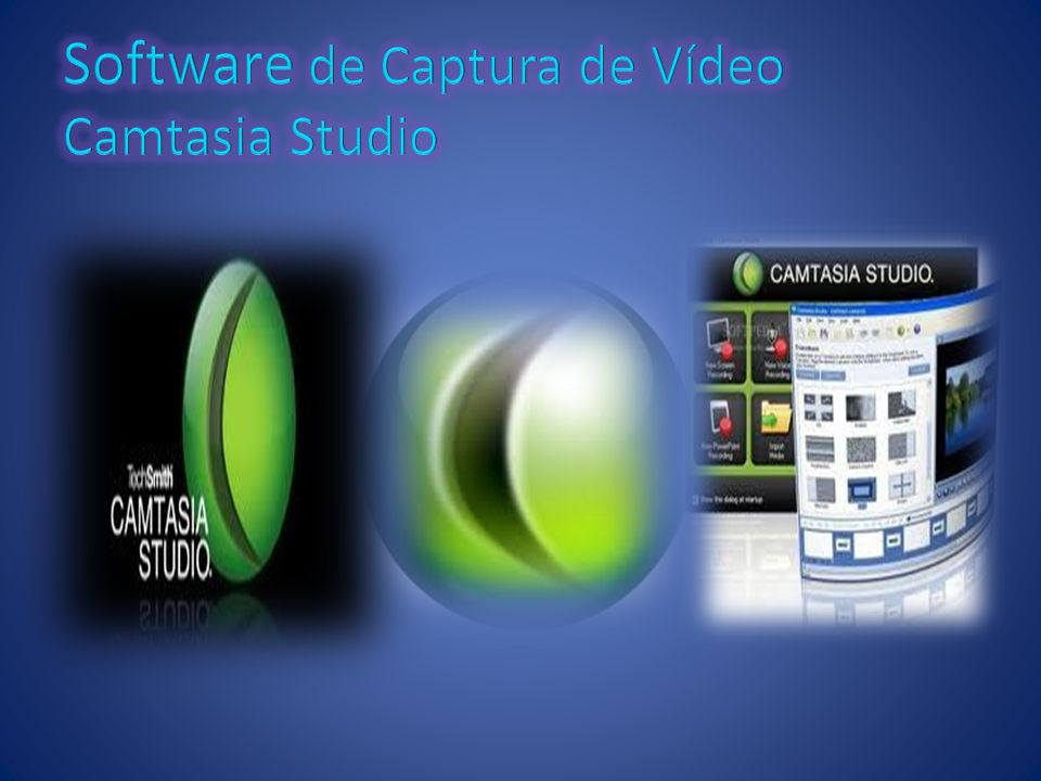 Software de Captura de Vídeo Camtasia Studio