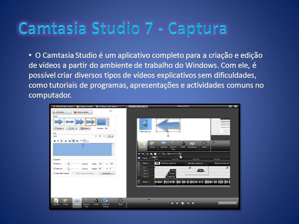 Camtasia Studio 7 - Captura