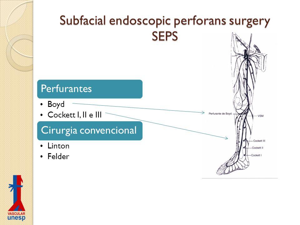 Subfacial endoscopic perforans surgery SEPS