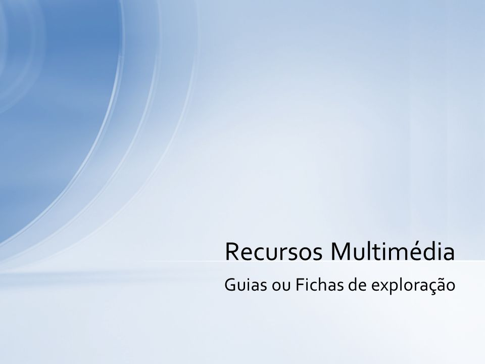 Guias ou Fichas de exploração