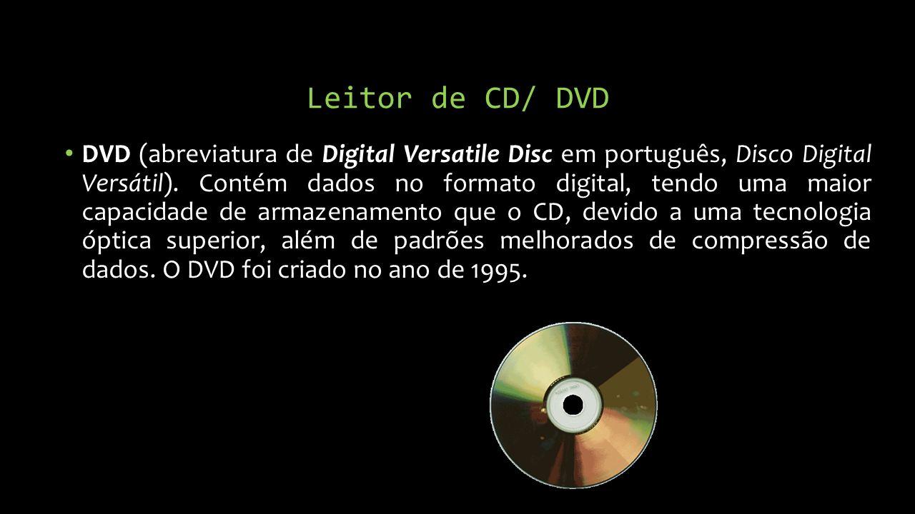 Leitor de CD/ DVD