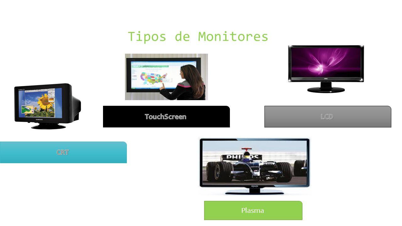 Tipos de Monitores TouchScreen LCD CRT Plasma