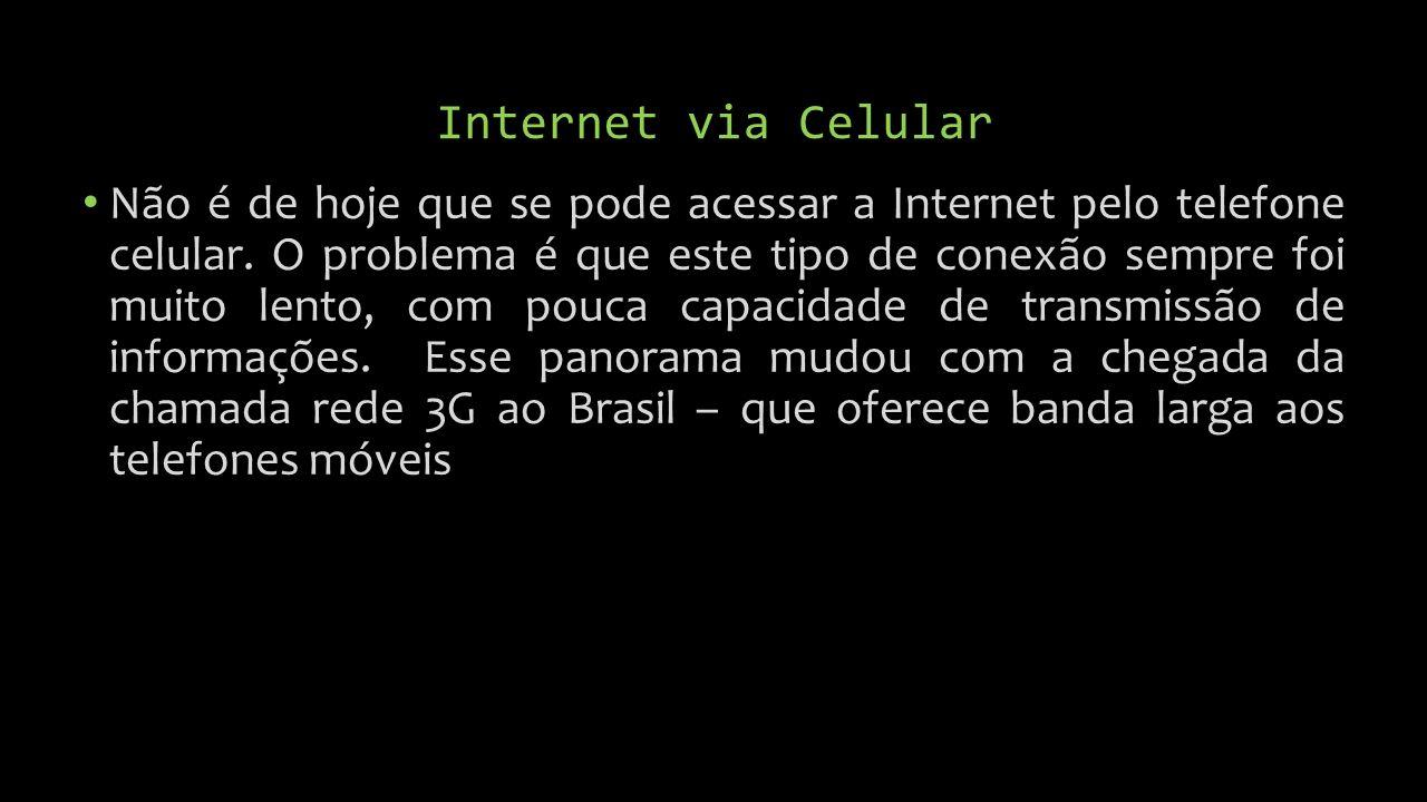 Internet via Celular