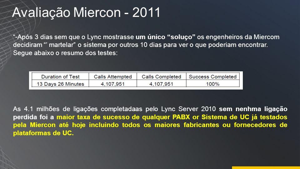 Avaliação Miercon - 2011