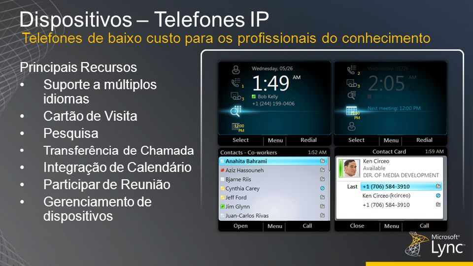 Dispositivos – Telefones IP