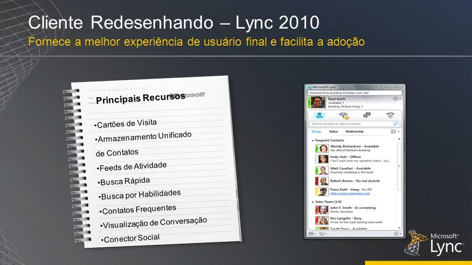Cliente Redesenhando – Lync 2010