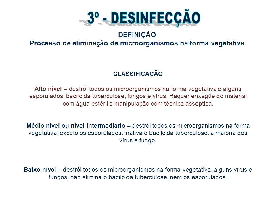 3º - DESINFECÇÃO