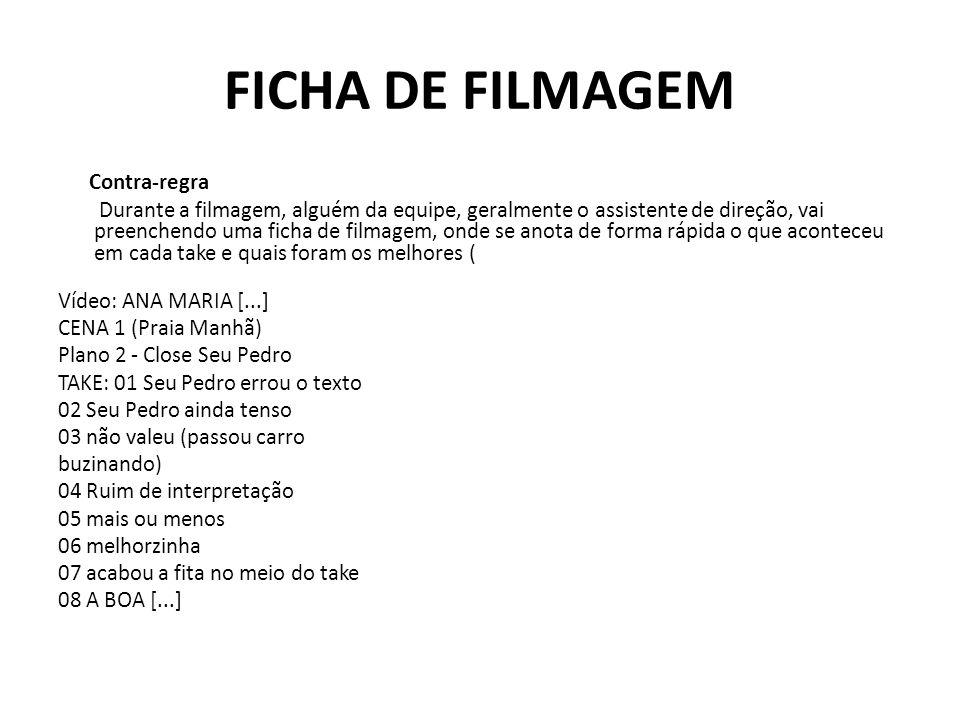 FICHA DE FILMAGEM