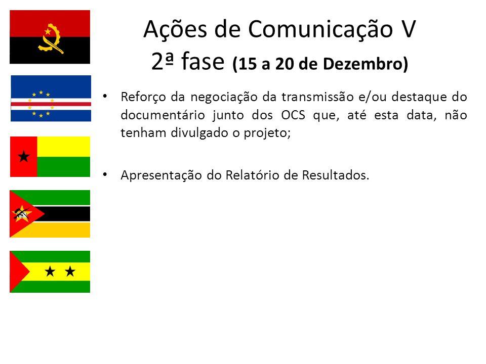 Ações de Comunicação V 2ª fase (15 a 20 de Dezembro)