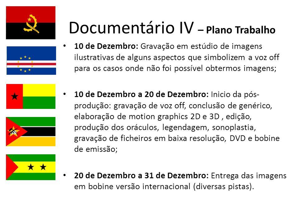 Documentário IV – Plano Trabalho
