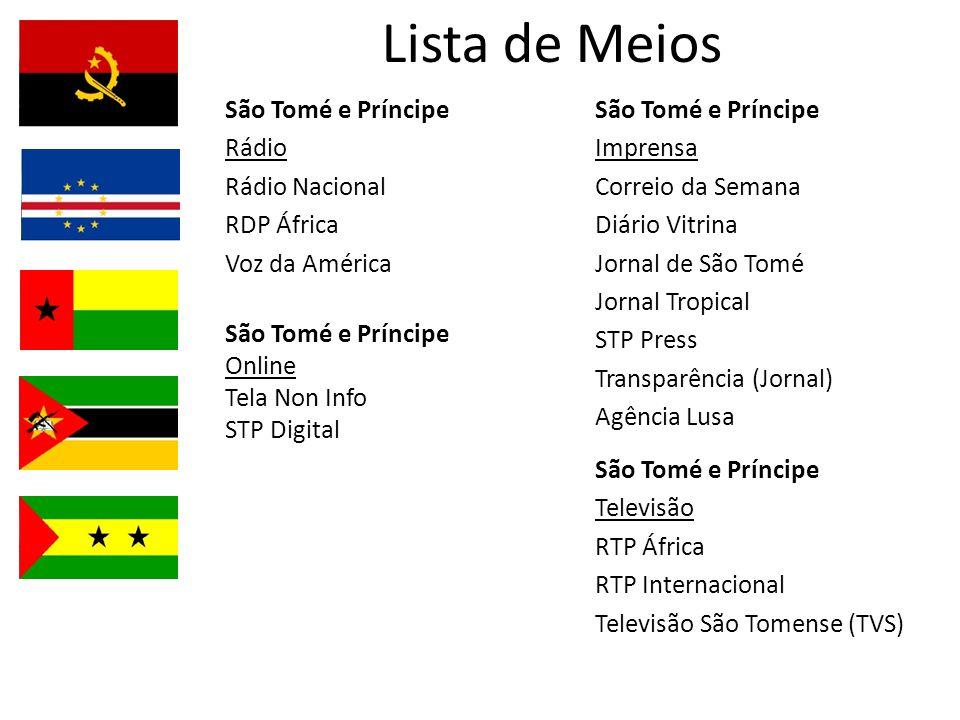 Lista de Meios São Tomé e Príncipe Rádio Rádio Nacional RDP África