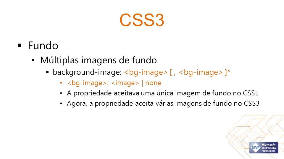 CSS3 Fundo Múltiplas imagens de fundo