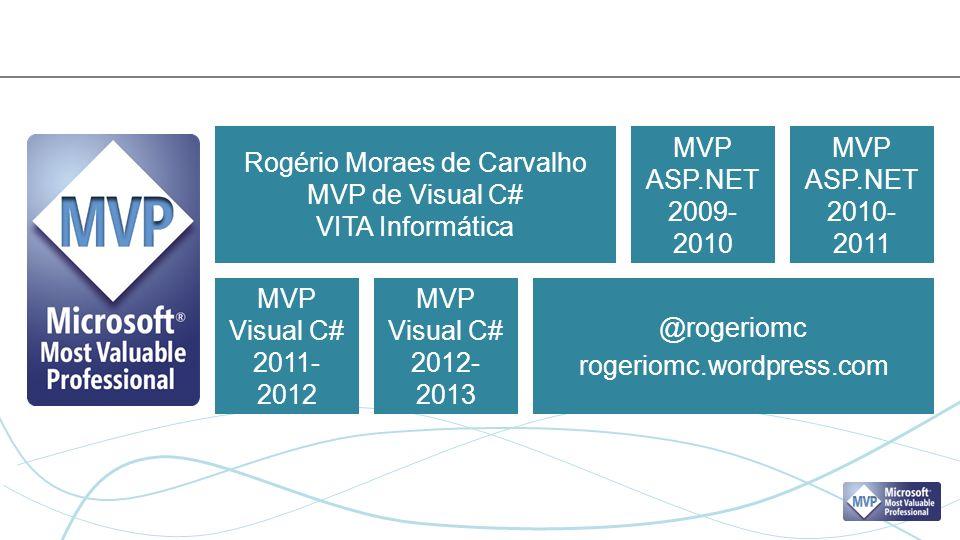 Rogério Moraes de Carvalho MVP de Visual C# VITA Informática