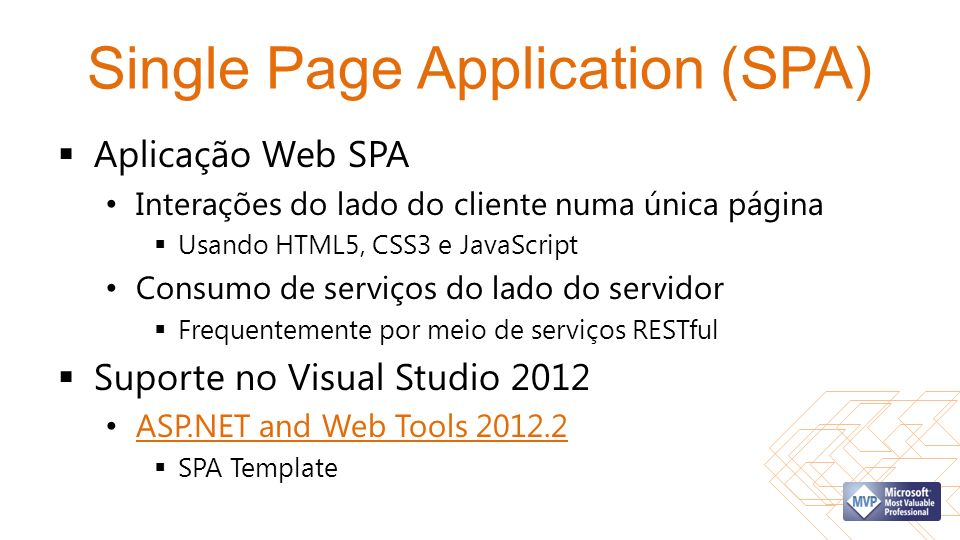 Single Page Application (SPA)