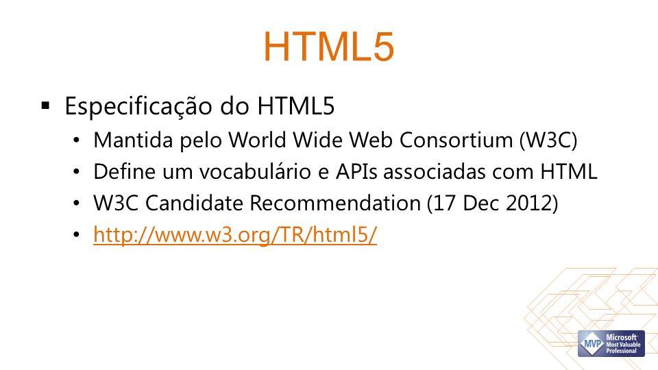 HTML5 Especificação do HTML5