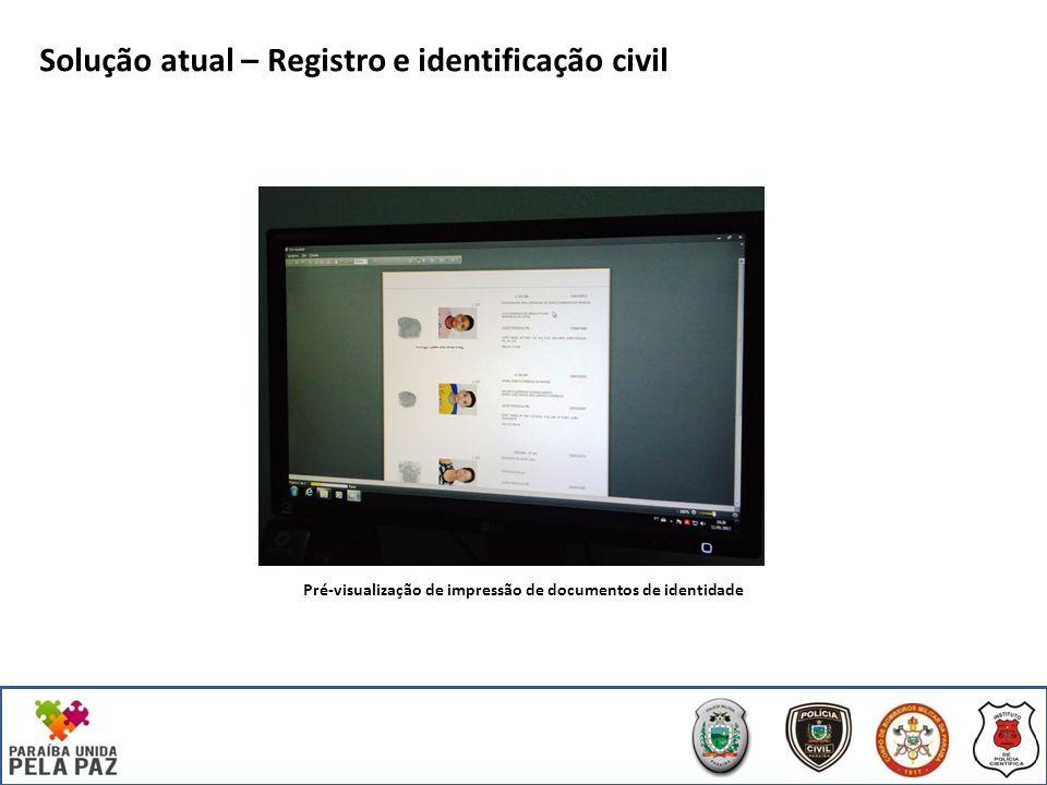 Pré-visualização de impressão de documentos de identidade