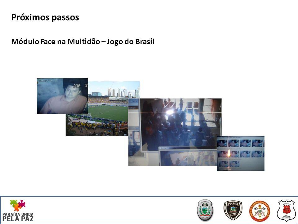 Próximos passos Módulo Face na Multidão – Jogo do Brasil